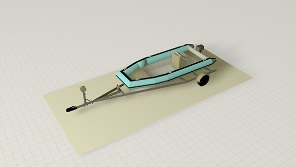 3.5 x 16 Kayak / Canoe Storage